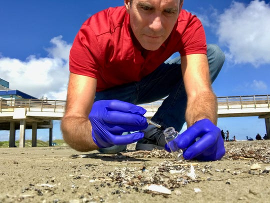 Jace Tunnell has found nurdles from Matagorda Bay to south of Bob Hall Pier.