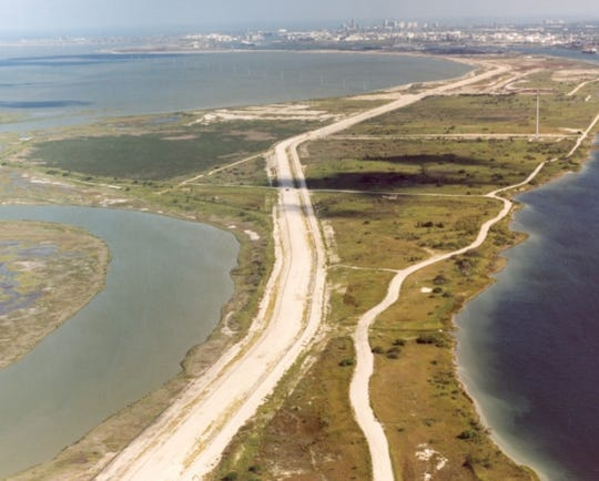 Inner Habor aerial view of Joe Fulton International Trade Corridor.
