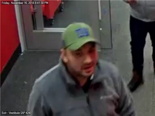 Evesham Police seek this man as they investigate purchases made with a credit card stolen from a Marlton Whole Foods shopper.