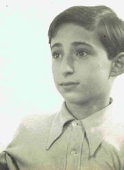 A photo of Holocaust survivor Fred Behrend of Voorhees at age 12.  Behrend recently reconnected with a childhood friend, Henry Baum, and will reunite with him over the winter in Florida.