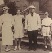 Henry and Margo Baum with their mother Brocho and father Elimelech.