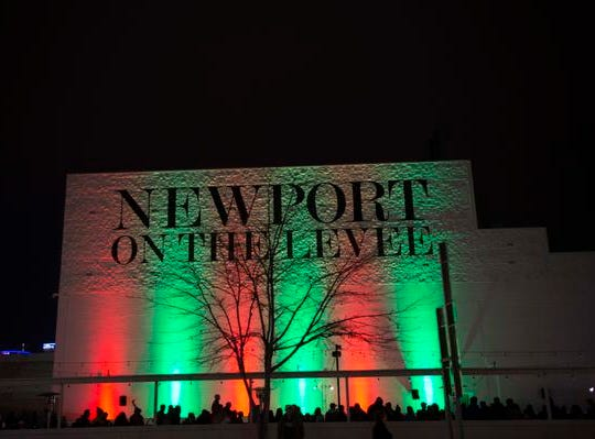The 10th Annual Light Up the Levee Celebration kicked off Sunday Nov. 25, 2018. Guests wait for the official opening the Newport skating rink.