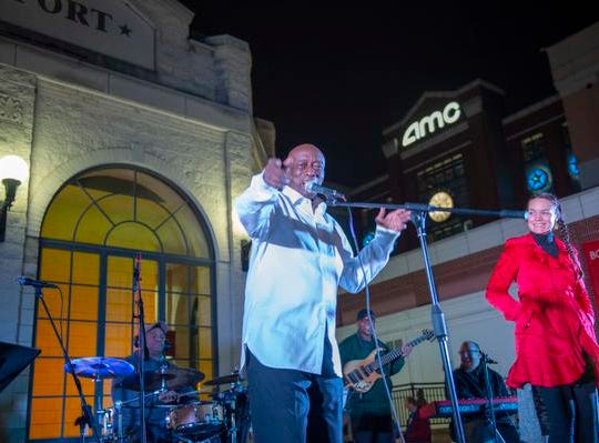 The 10th Annual Light Up the Levee Celebration kicked off Sunday, Nov. 25, 2018. Clyde Brown lead vocalist for the Clyde Brown Band.