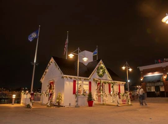 The 10th Annual Light Up the Levee Celebration kicked off Sunday, Nov. 25, 2018. Santa set up a new home at the Newport Levee.