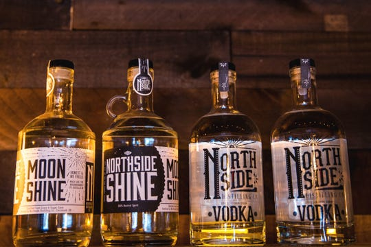 Northside Distillery's tasting room serves their corn whiskey, moonshine and vodka. They  offer rotating specialty cocktails made with their liquors.