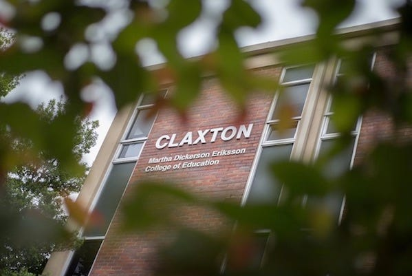 APSU's Claxton building is home to the Eriksson College of Education.
