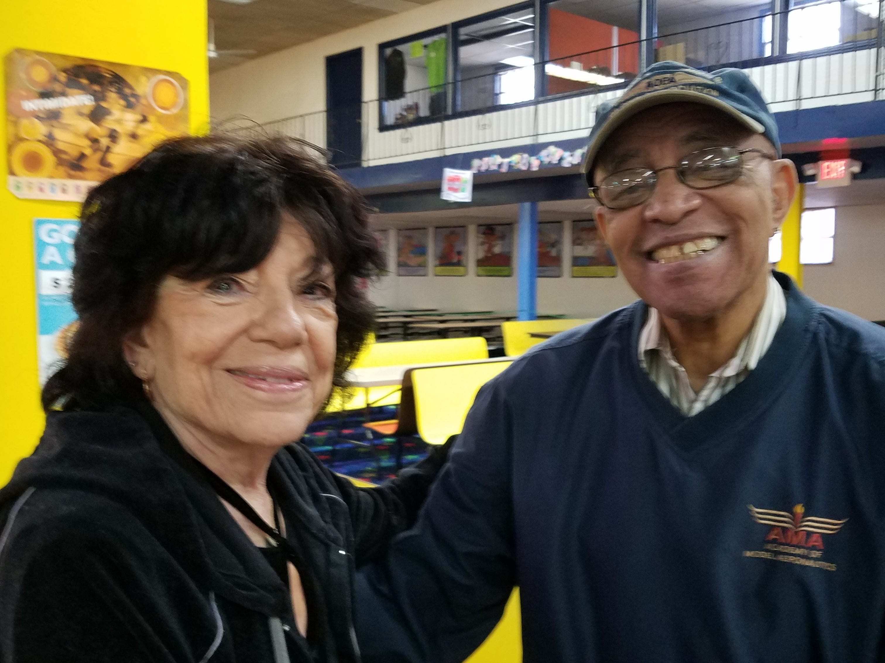 """At least twice a week, more than 20 seniors, including Betty """"Betty Boop"""" SamMarco of Staten Island and Ken """"sleepy"""" Dawson of Monroe, regularly gather at South Amboy Arenaand take to the rink for a couple hours of roller skating. They range in age from 55 to 100."""
