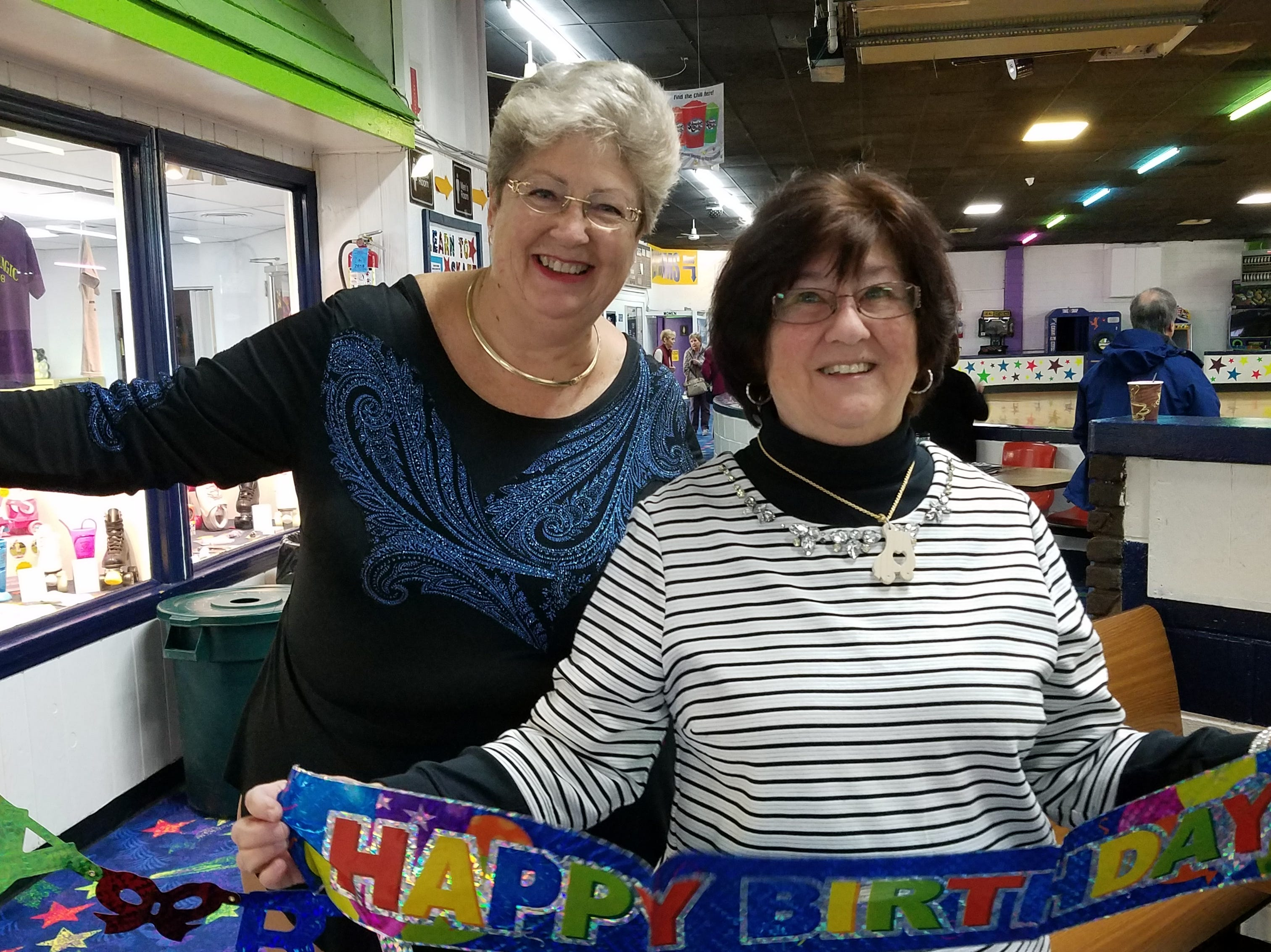 At least twice a week, more than 20 seniors, like Darlene Ostewik of Brooklyn and Joy Tomaino of Eatontown, regularly gather at South Amboy Arenaand take to the rink for a couple hours of roller skating. The skating seniors range in age from 55 to 100.