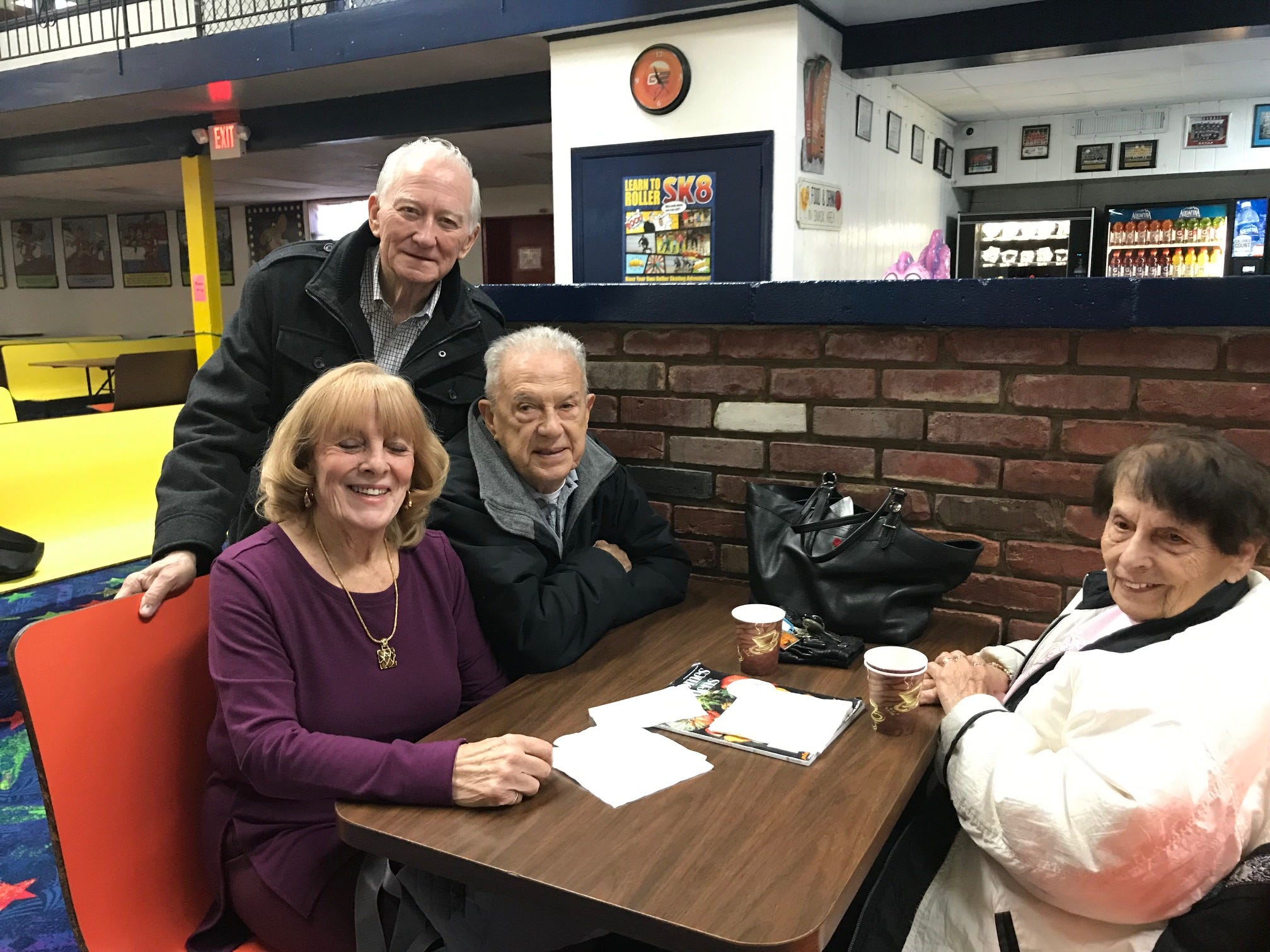 At least twice a week, more than 20 seniors, including Harry Fetherston of South Plainfield, Joannie Costello of Woodbridge and Danny and Terry Yovanovich of Woodbridge, regularly gather at South Amboy Arenaand take to the rink for a couple hours of roller skating. They range in age from 55 to 100.