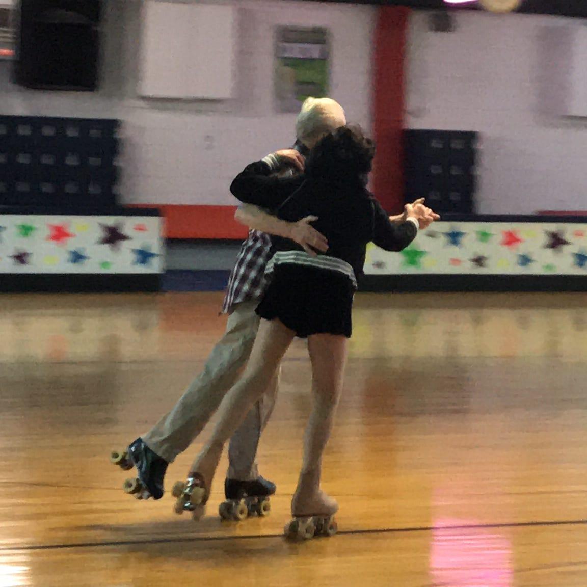 Skating keeps seniors on a roll