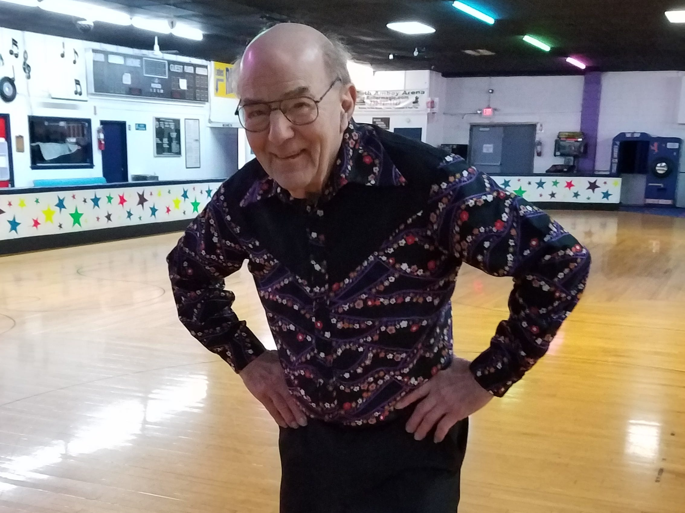At least twice a week, more than 20 seniors, including Don Thompson of Middletown, regularly gather at South Amboy Arenaand take to the rink for a couple hours of roller skating. They range in age from 55 to 100.
