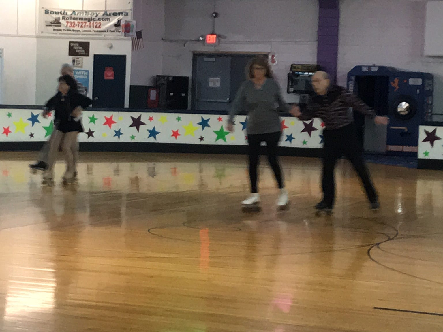 At least twice a week, more than 20 seniors regularly gather at South Amboy Arenaand take to the rink for a couple hours of roller skating. They range in age from 55 to 100.