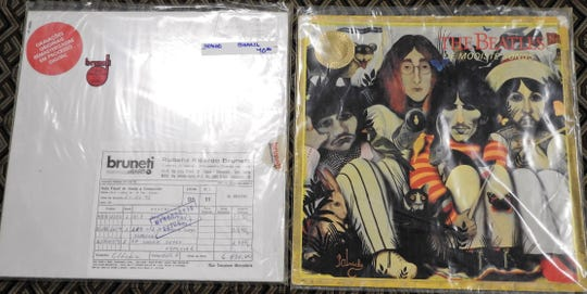 "A version of ""The White Album"" released in Brazil and a foreign release compilation album featuring cover art originally intended for ""The White Album"" when it was going to be called ""A Doll's House"" are part of Gary Baker's collection of more than 2,000 Beatles items."