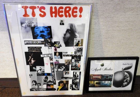 "A promotional poster for ""The White Album"" simply declaring ""It's Here!"" is one of Gary Baker's favorite pieces from his collection of more than 2,000 Beatles related items."