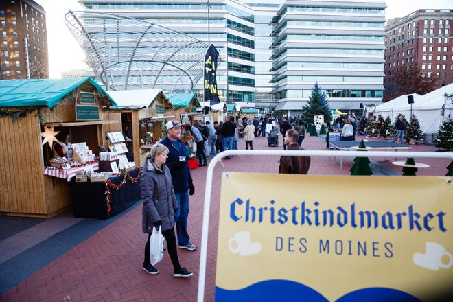 The Christkindlmarket Des Moines in Cowles Commons starts Friday. The Market is a German-inspired Christmas market whose goal is to educate and entertain the community by exposing them to European-style foods, products and activities.