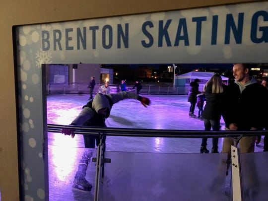 Ice skating at Brenton Skating Plaza is for all ages and skill levels.