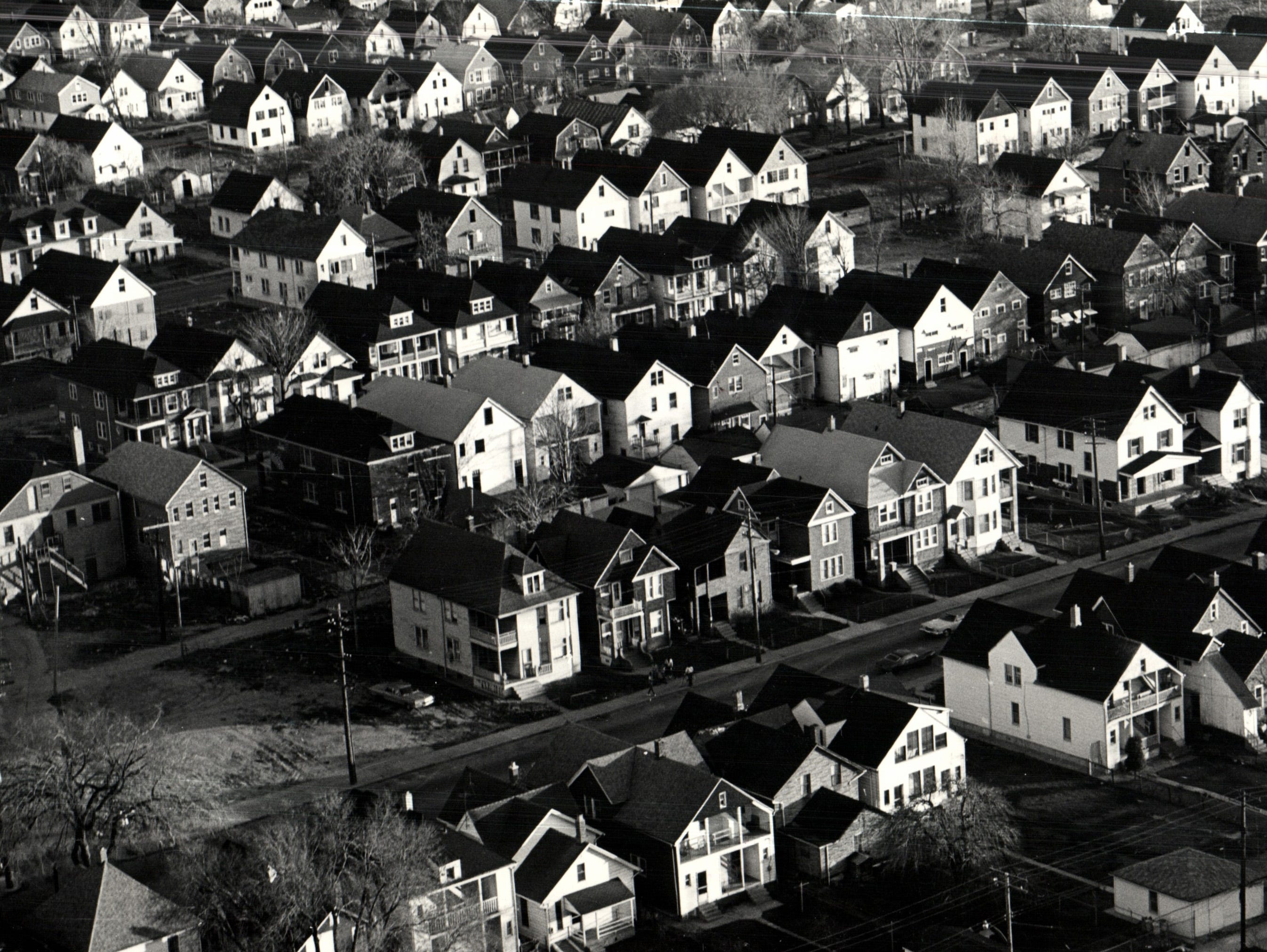 Poletown East neighborhood in Detroit, Michigan.