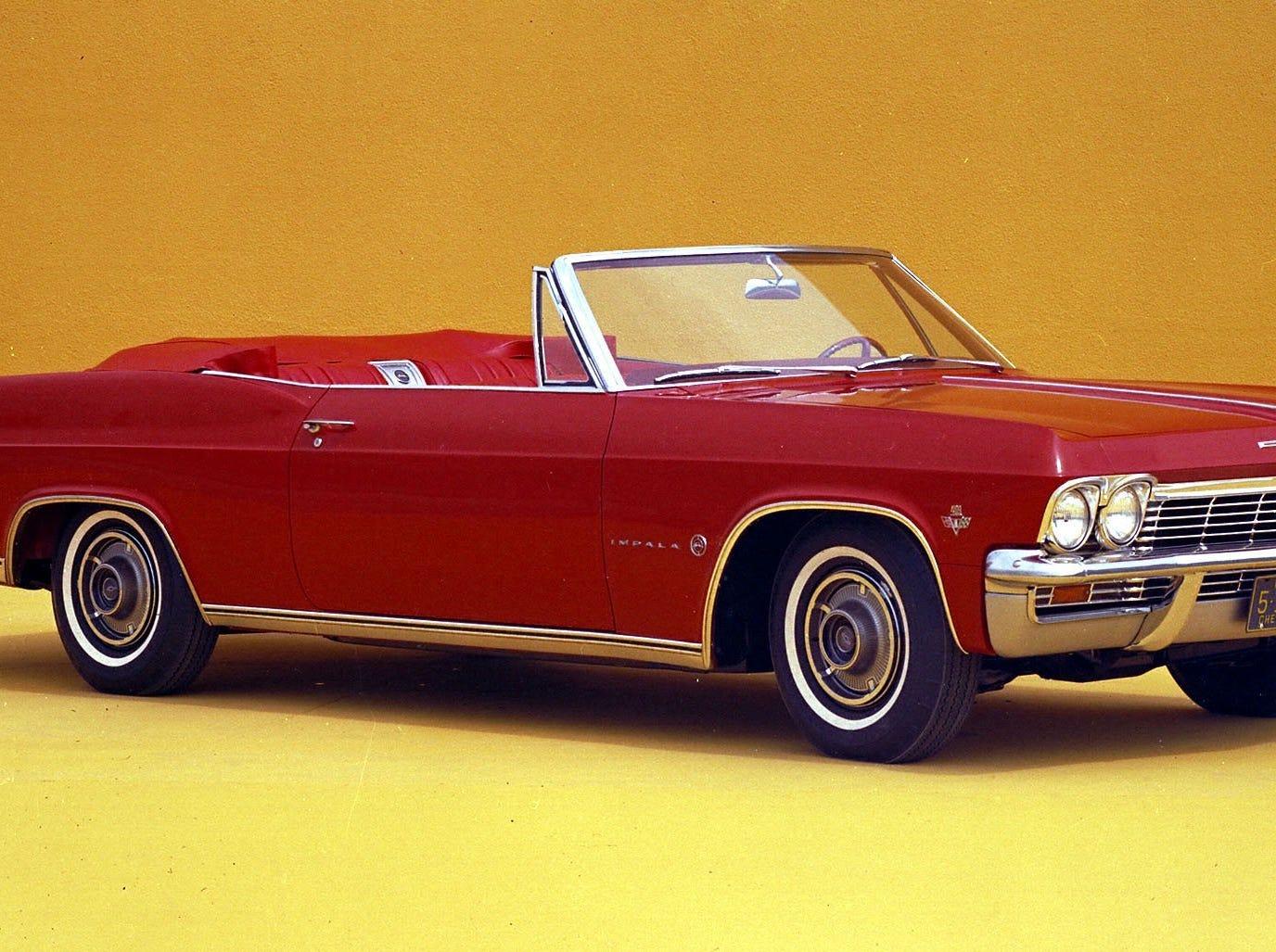 A 1965 Chevrolet Impala convertible.