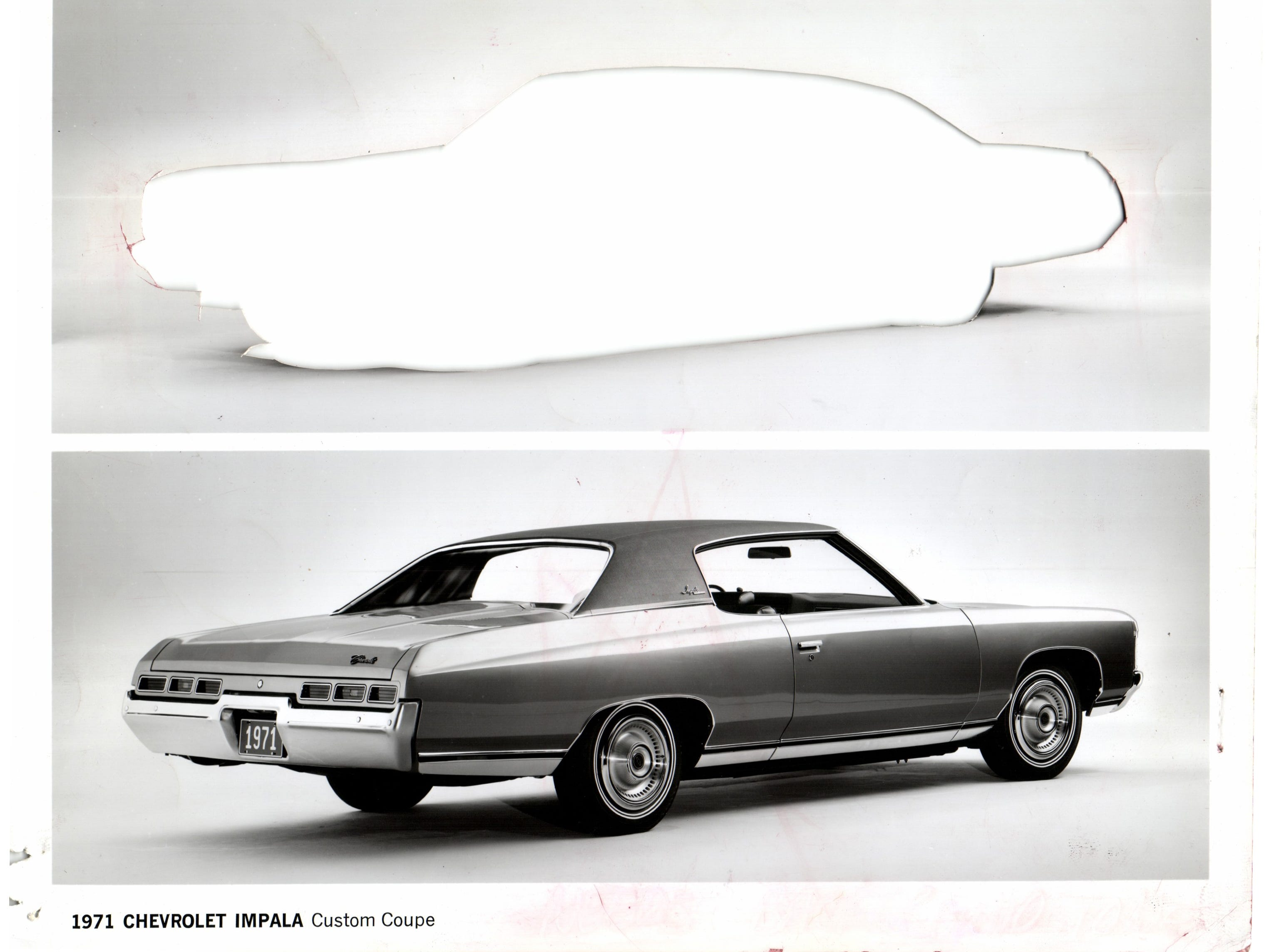 1971 Chevrolet Impala Custom Coupe.