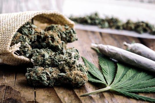 Marijuana Buds With Marijuana Joints