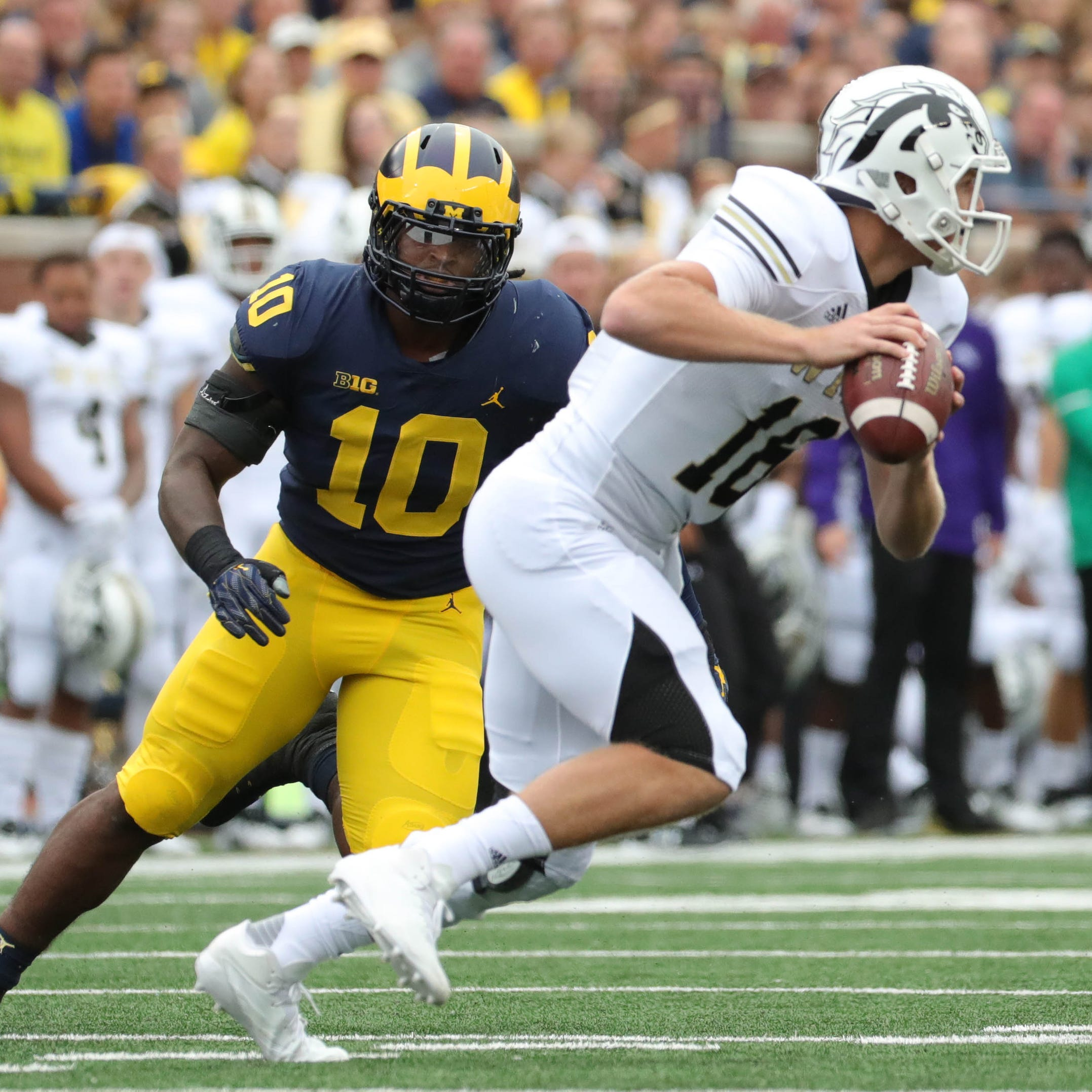 Michigan's Devin Bush Jr., MSU's Kenny Willekes earn All-America honors