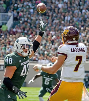 Michigan State defensive end Kenny Willekes led the Big Ten in tackles for loss with 20.5 for 84 yards.