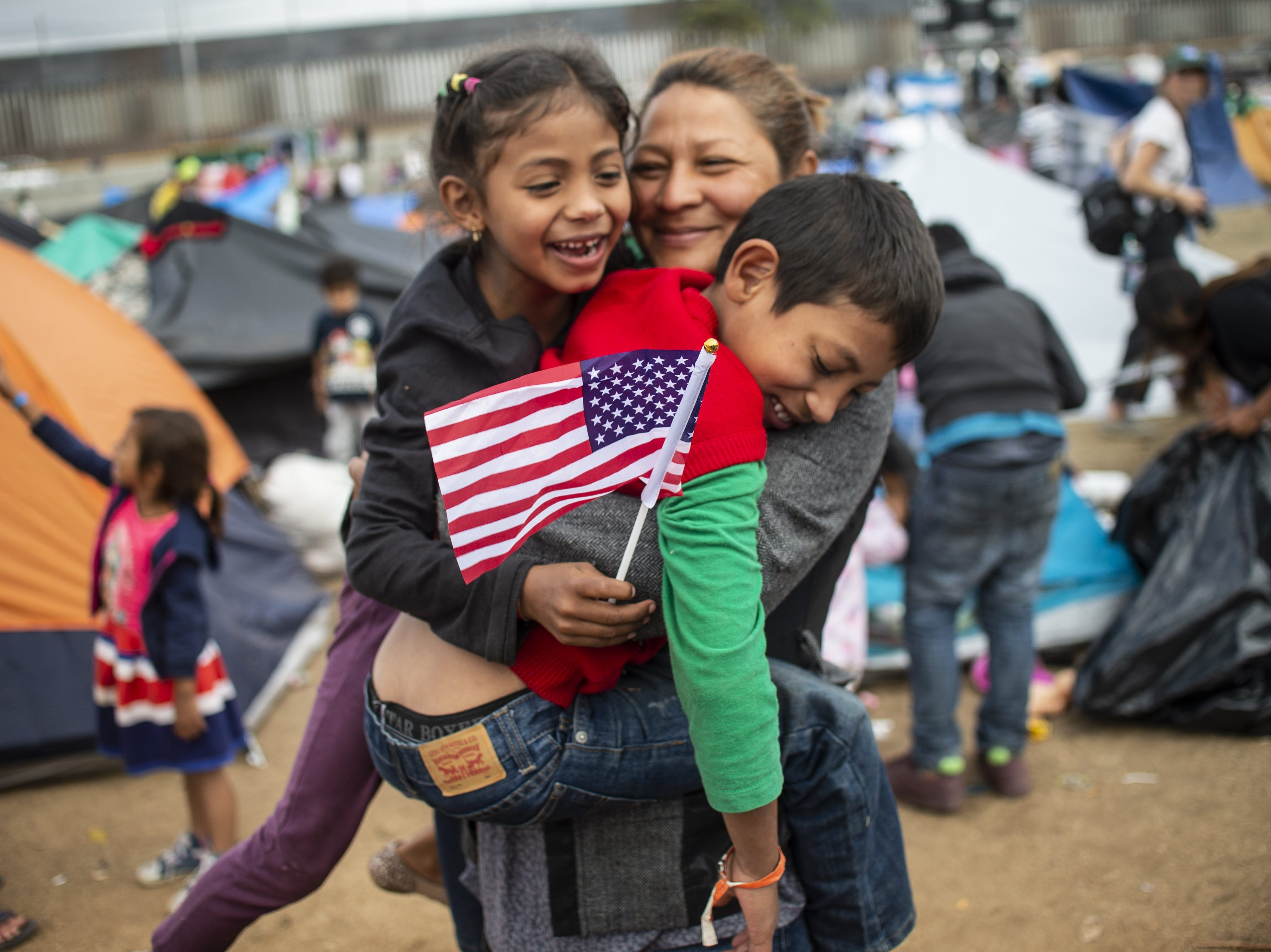 Central American migrants wanting to reach the United States remain at a shelter in Tijuana, Baja California State, Mexico, on November 24, 2018.