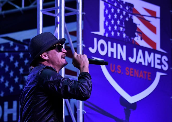 """""""Kid Rock' made it clear that he was only exploring a """"possible campaign"""" and all of the money raised would go to voter registration efforts."""""""