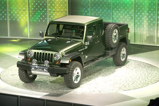 Jeep showed a concept version of the Gladiator pickup at the 2005 Detroit auto show. Leaked spy photos show that the production version to be shown this week is not appreciably different, except for a more current grille.