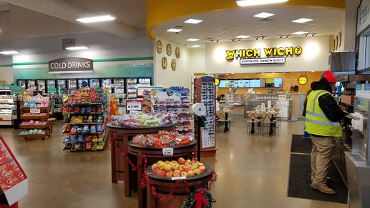 Which Wich is located inside the Crossroads IGA on North Green River Road.