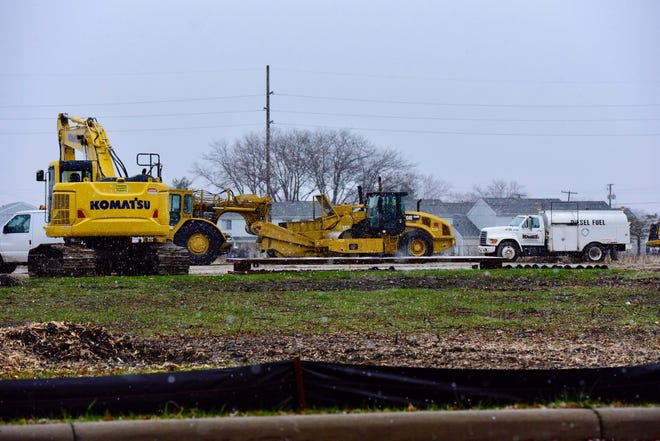 Construction equipment is on-site at the new Kroger location on Cedar Street. The company plans to build a 93,000-square-foot store at the location, with an estimated opening date in late 2019.