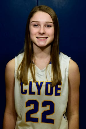 Clyde freshman Kristen Harrah scored 11 points against Lexington.