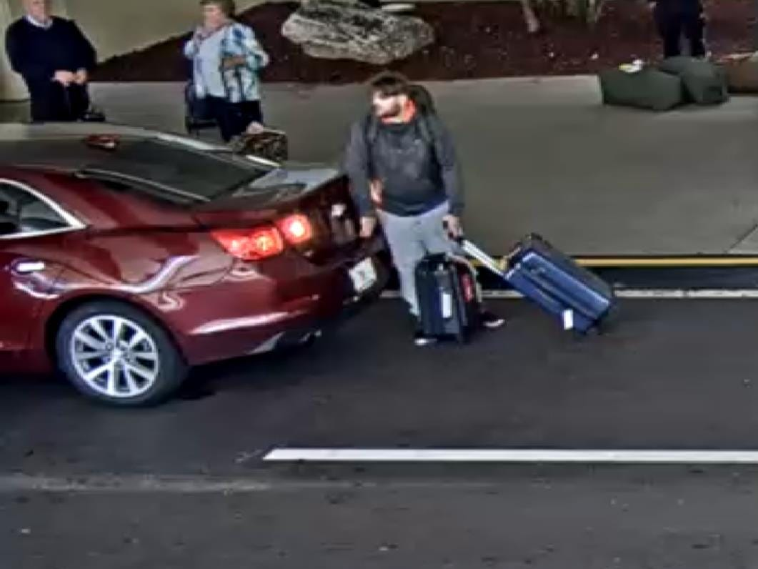 A man who allegedly swiped someone else's luggage from the baggage claim area at Southwest Florida International Airport is being sought by police. The man, and a woman with him, left in a maroon car.