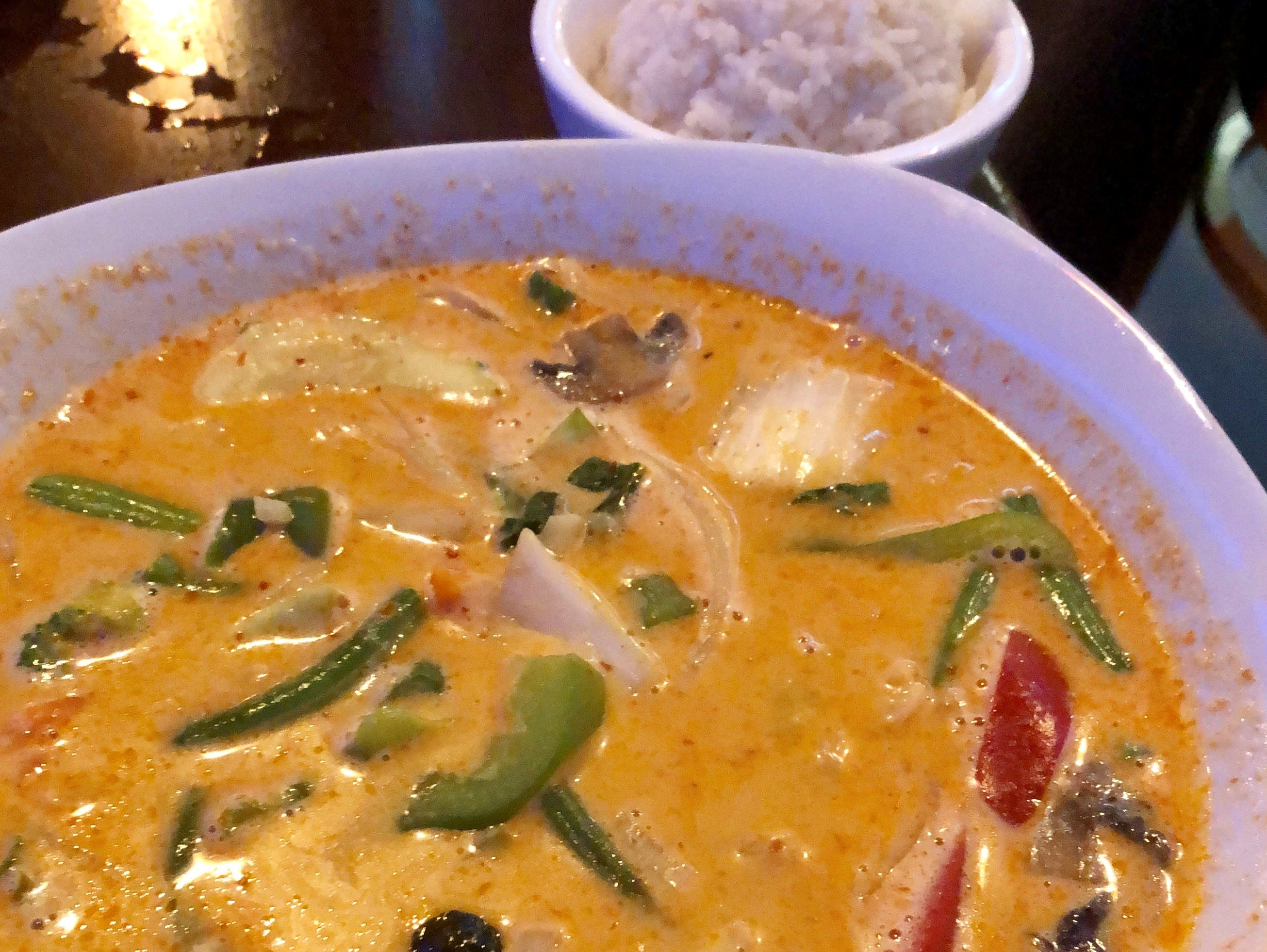 Panang curry with mixed vegetables from Ninja Thai & Sushi Bar in south Fort Myers.
