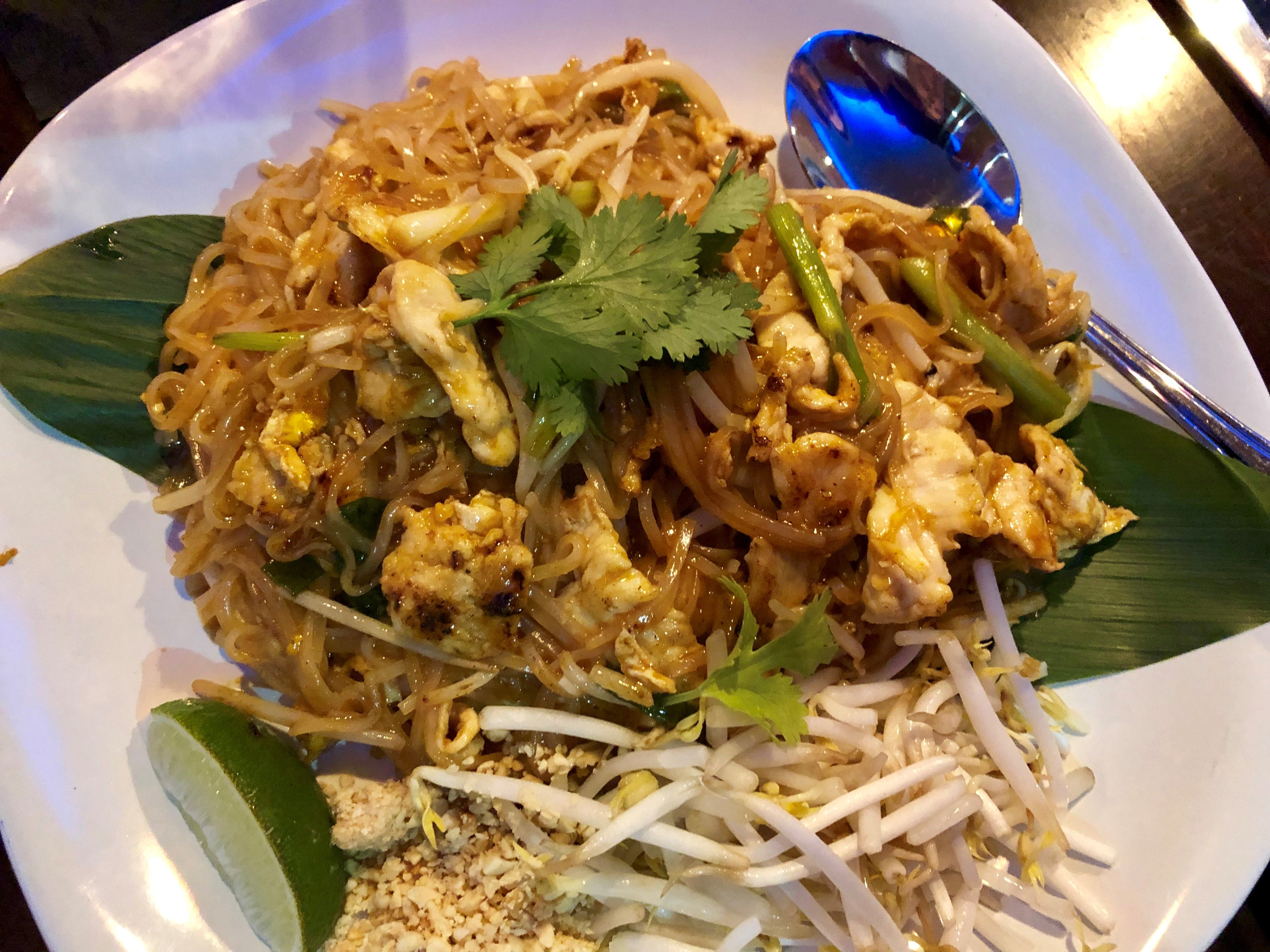 Another view of the Pad Thai at Ninja Thai & Sushi Bar in south Fort Myers.