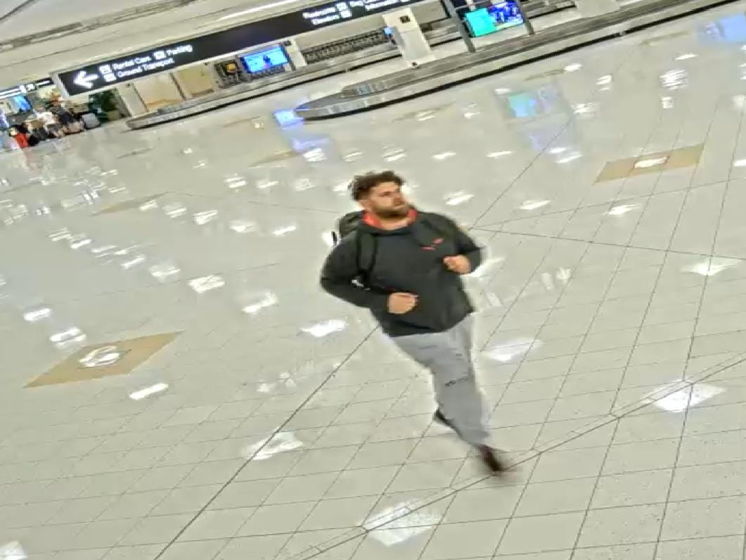 A man who allegedly swiped someone else's luggage from the baggage claim area at Southwest Florida International Airport is being sought by police.