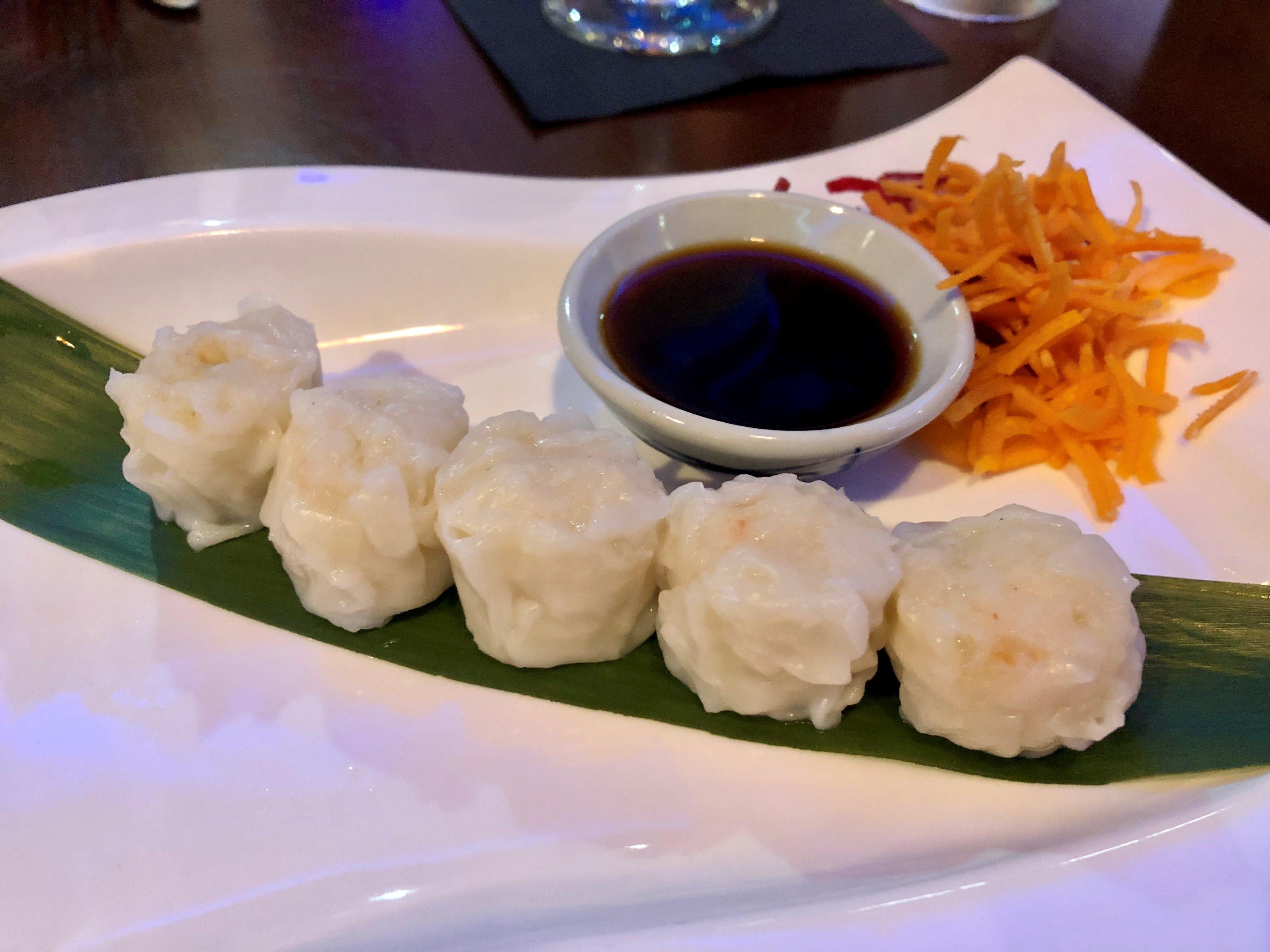 Steamed dumplings from Ninja Thai & Sushi Bar in south Fort Myers.