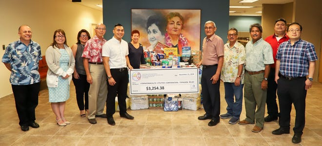 GPA and CCU employees collect funds and goods for Super Typhoon Yutu relief efforts