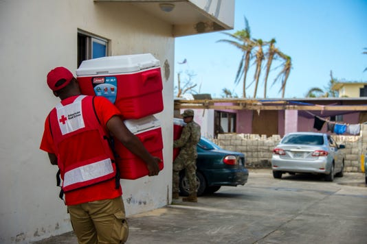 American Red Cross Distributes Disaster Relief Supplies After Super Typhoon Yutu