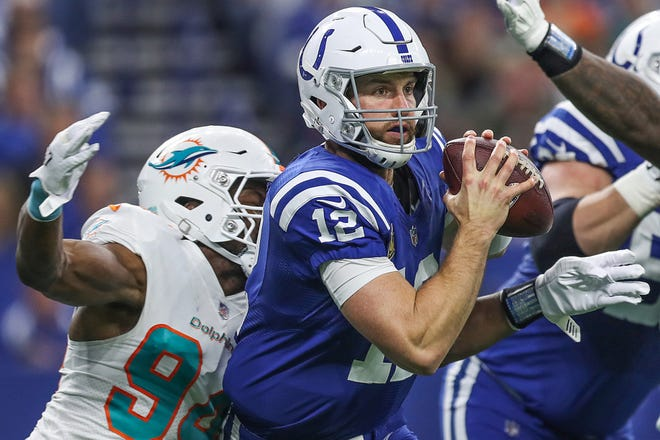 """""""Don't go down, Andrew,"""" the Colts QB told himself on the game's deciding play in the fouth quarter. """"Stay up. Give your guys a chance."""""""