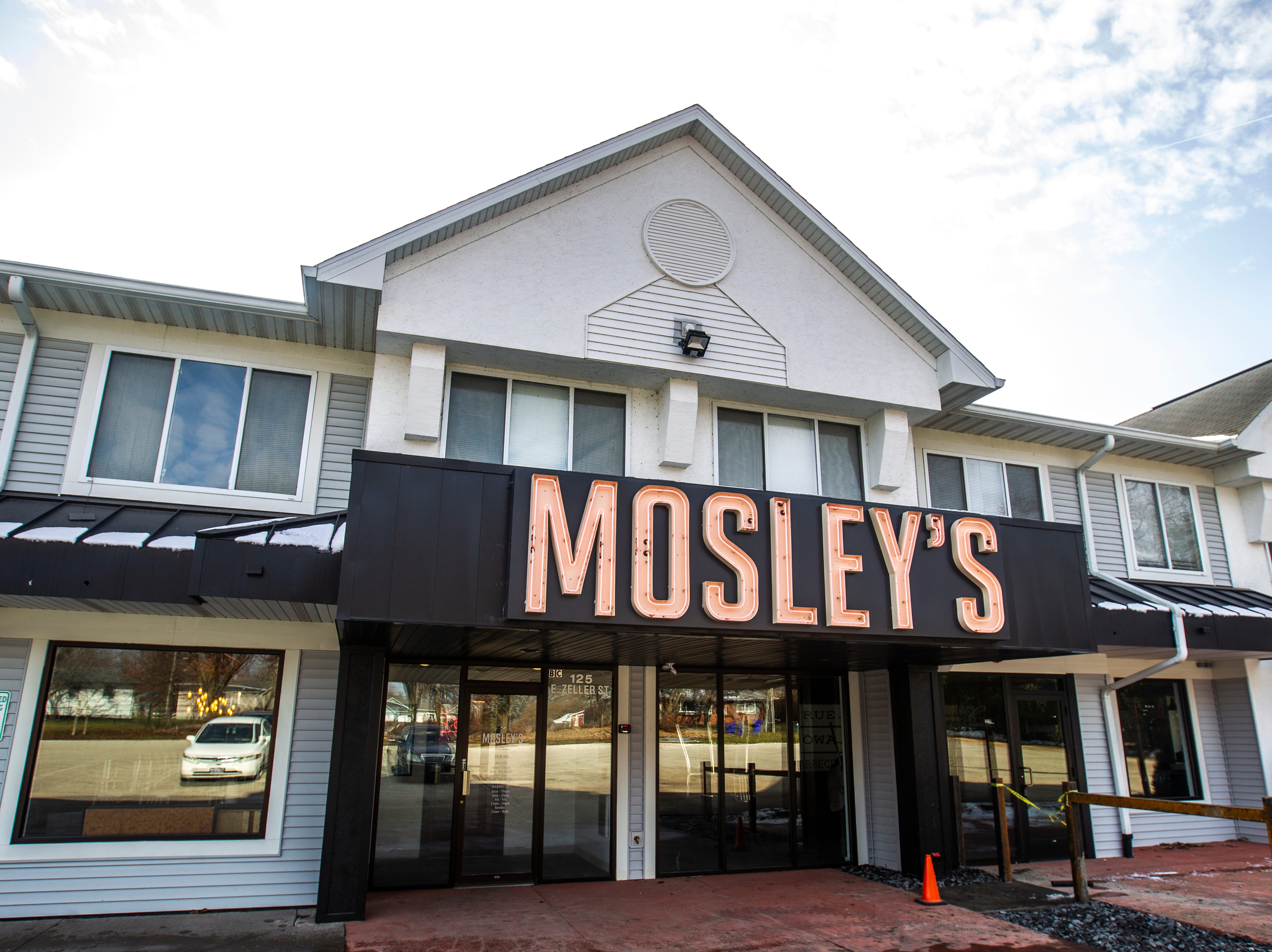 Mosley's Barbecue and Provisions is seen on Wednesday, Nov. 21, 2018, at 125 E Zeller St. in North Liberty.