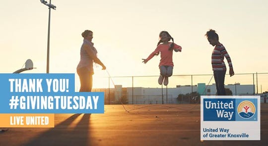 For Giving Tuesday 2018, United Way of Greater Knoxville is seeking to raise $100,000 through pledges from Regal and Facebook to match any donations.