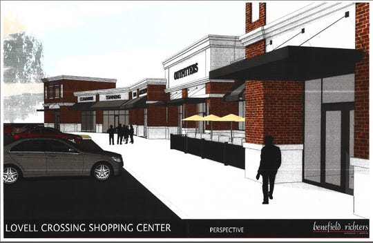 A rendering of the planned Village at Lovell Road retail and office space development.