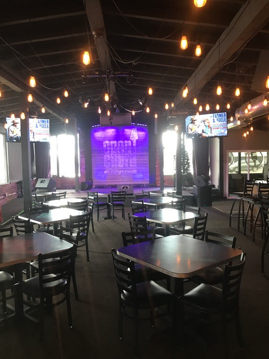 Bistro-style seating creates a cozy, intimate feel at Open Chord.