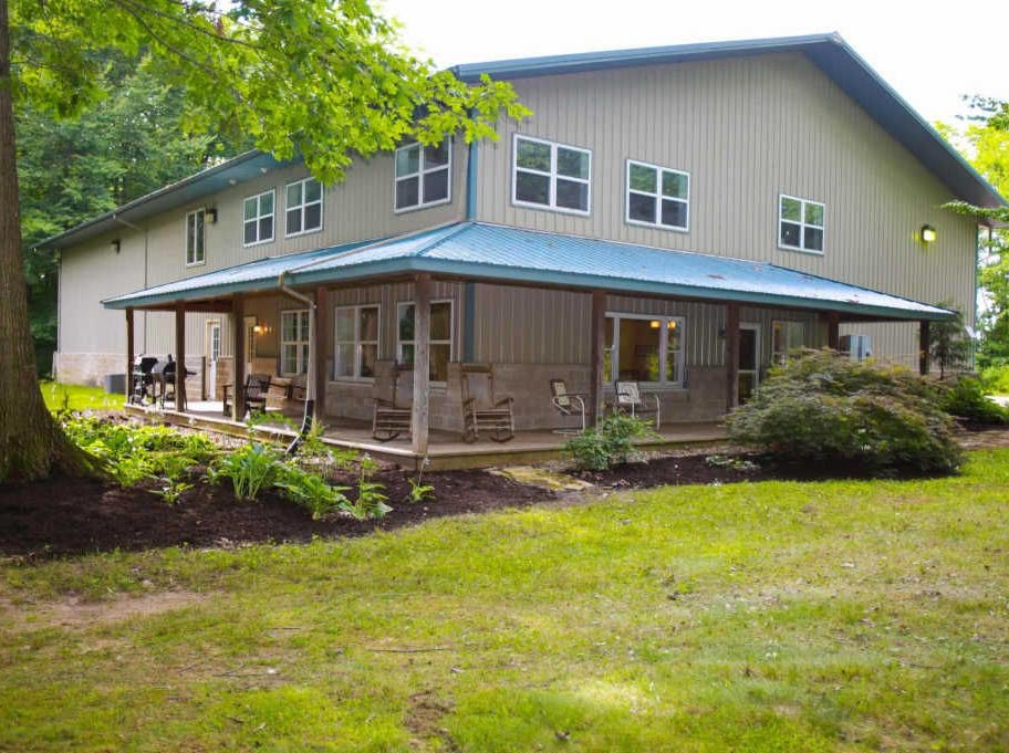 Sitting along the edge of Tippecanoe County hides a disguised retreat of a home across 10 acres, including a fully stocked pond with a dock across two acres.