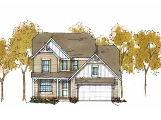 An architectural rendering shows what a single-family home would look like, in the previously proposed Waters Edge Village subdivision. Developers scrapped plans for the community.