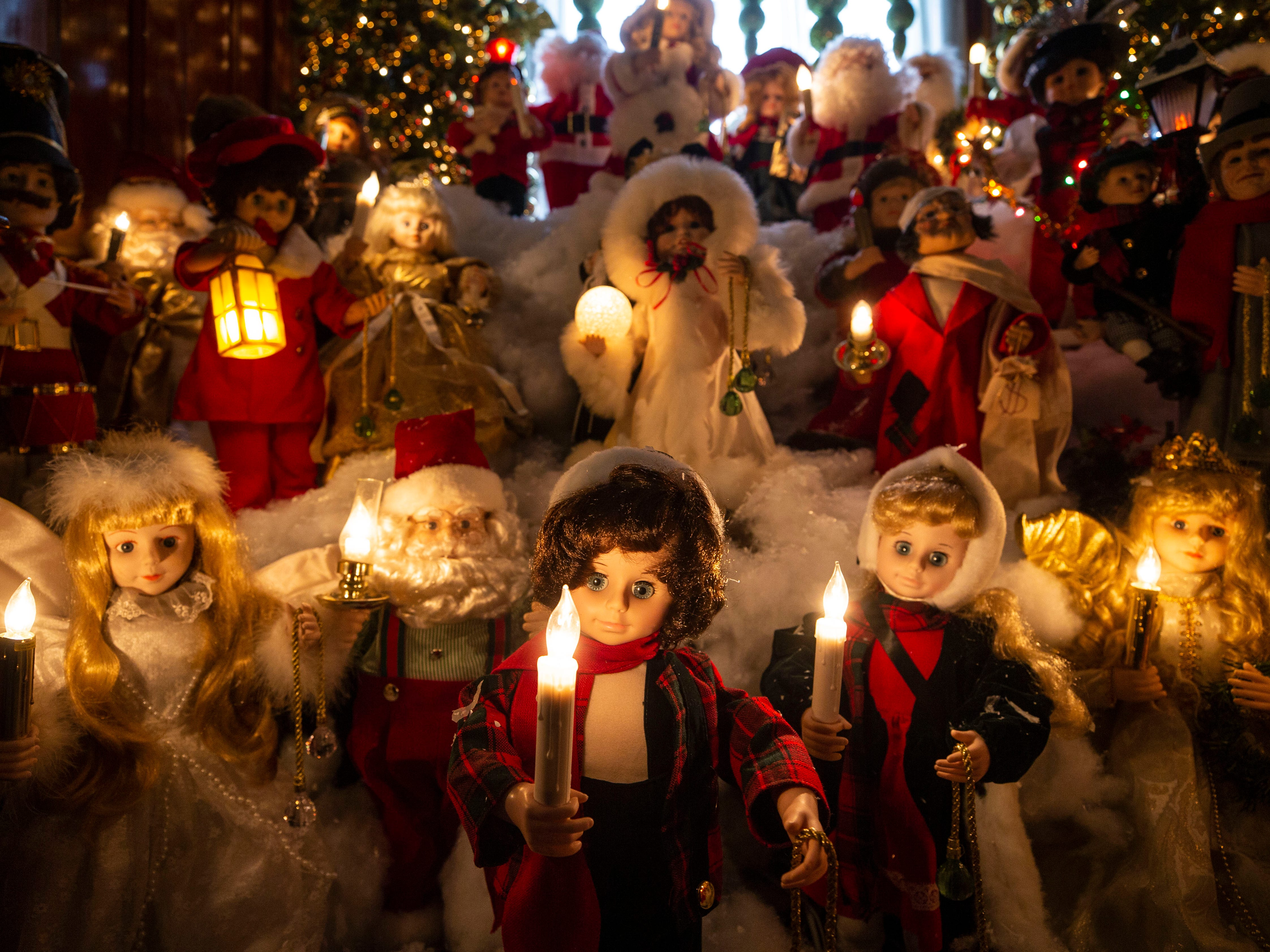 """""""I'm very organized; you have to be. There's hundreds and hundreds of totes,"""" said homeowner David Brown.Cousins help him bring labeled totes up from the basement; they come back to help put them away; it took six of them eight or nine hours to bring up all the figurines."""