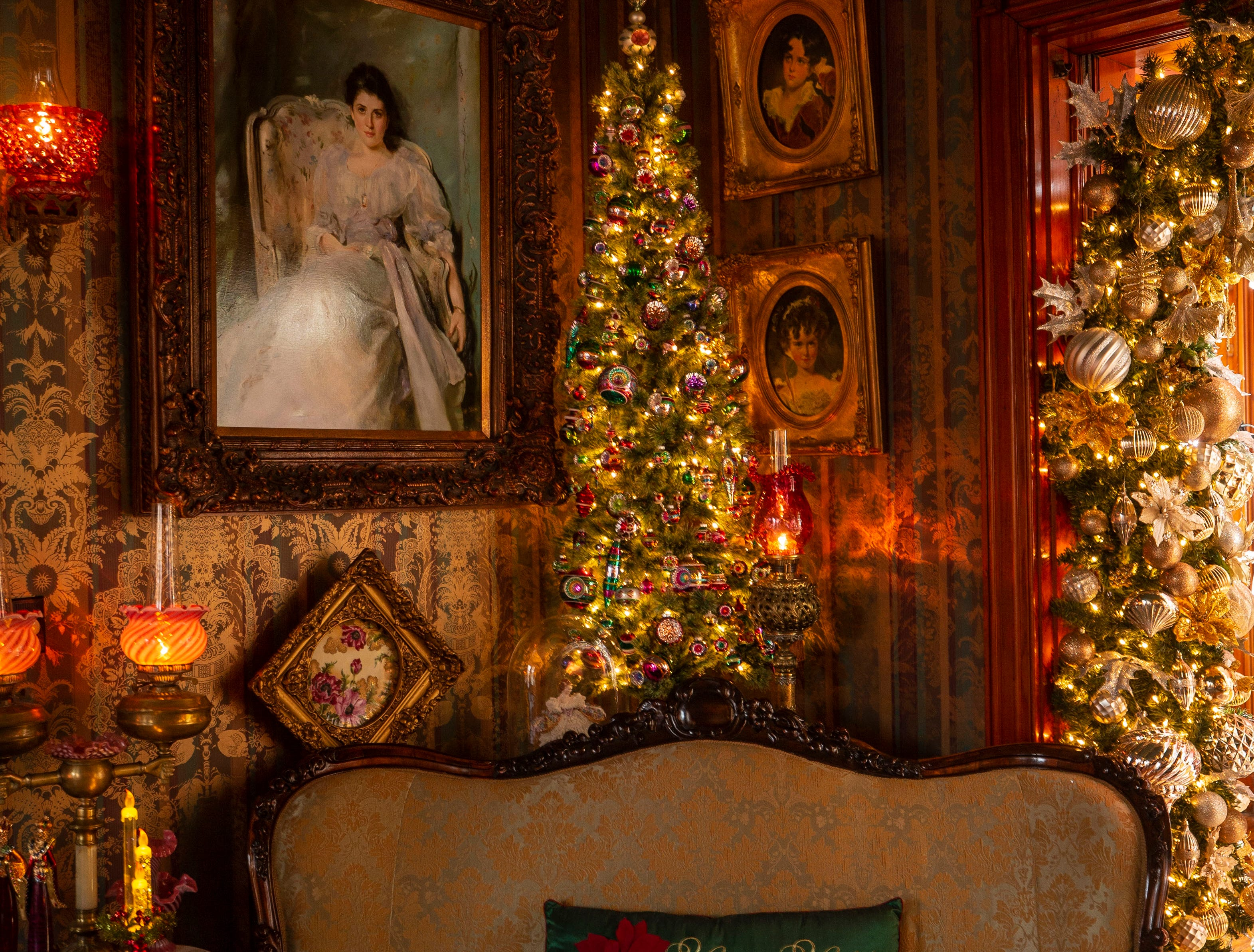 David Brown's Victorian-era, three-story home is filled with Christmas and Holiday lights, trees and ornaments that is part of the Old Louisville Holiday Home Tour.