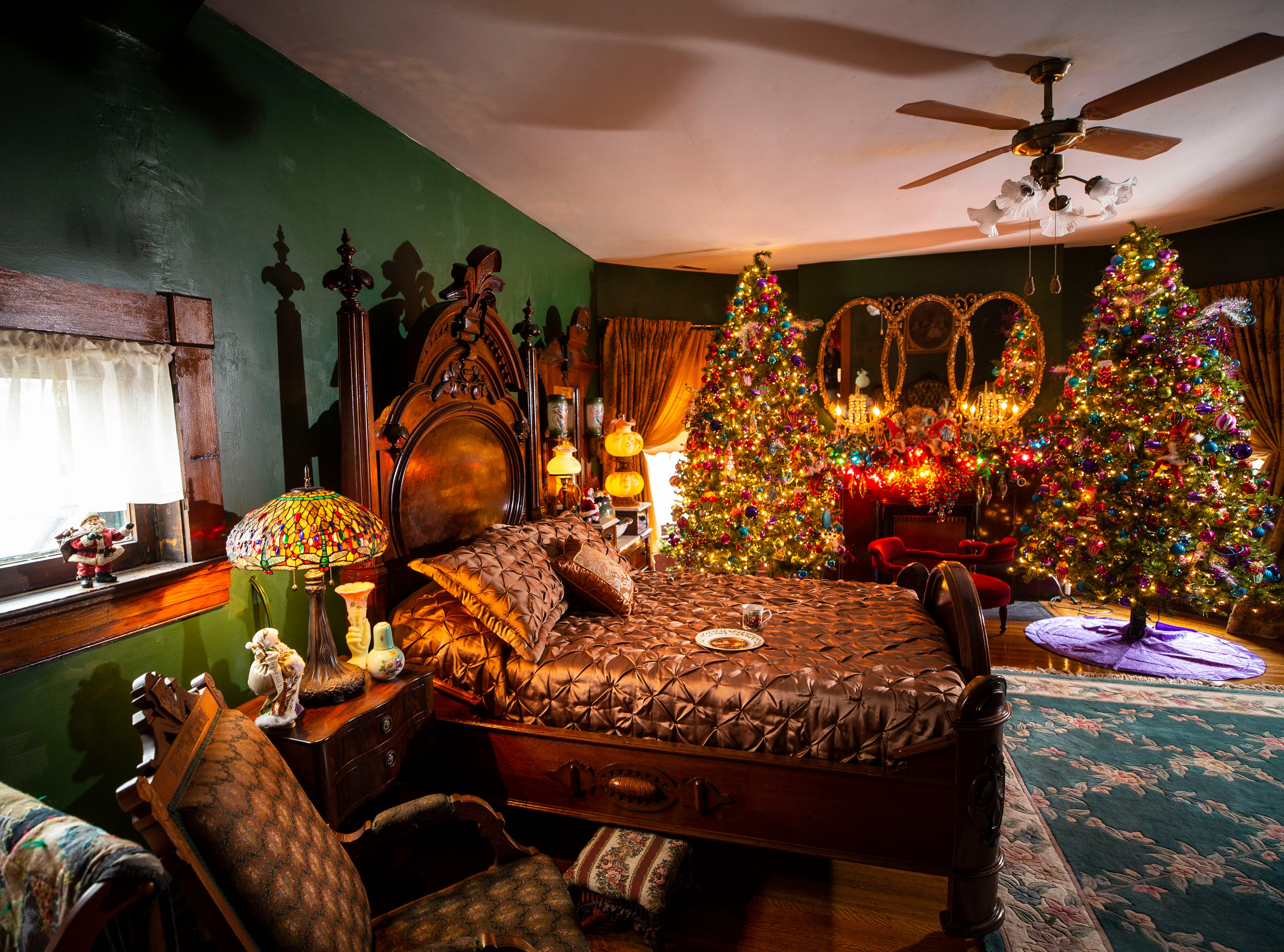 David Brown started decorating in September; he's still putting things together. After the holidays it takes him about two to three weeks to pack away the lights, ornaments and garlands.
