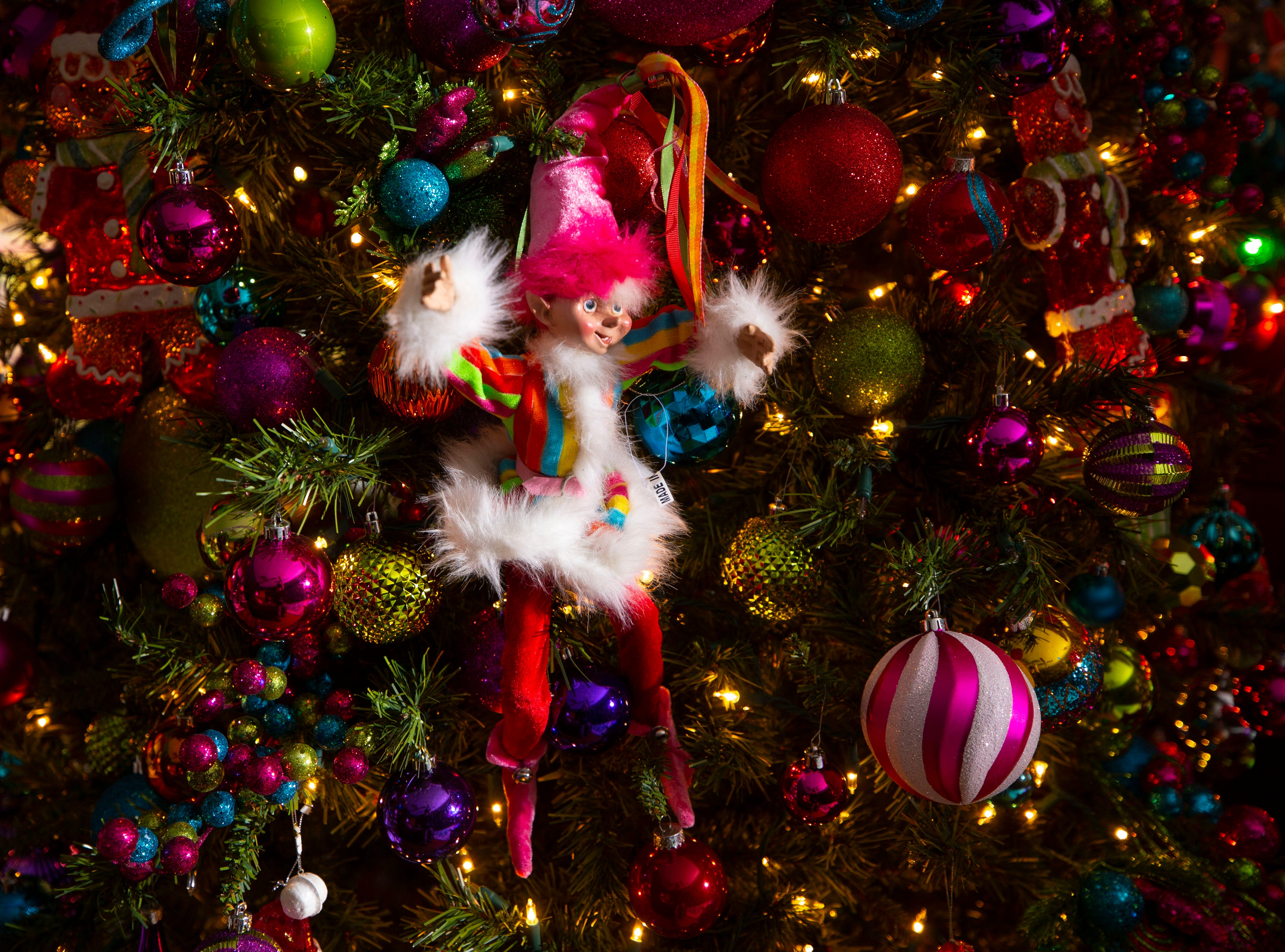 David Brown has more than 60,000 ornaments hung throughout the home.